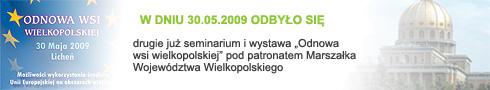 """Seminarium i wystawa """"odnowa wsi wielkopolskiej"""" 2009"""