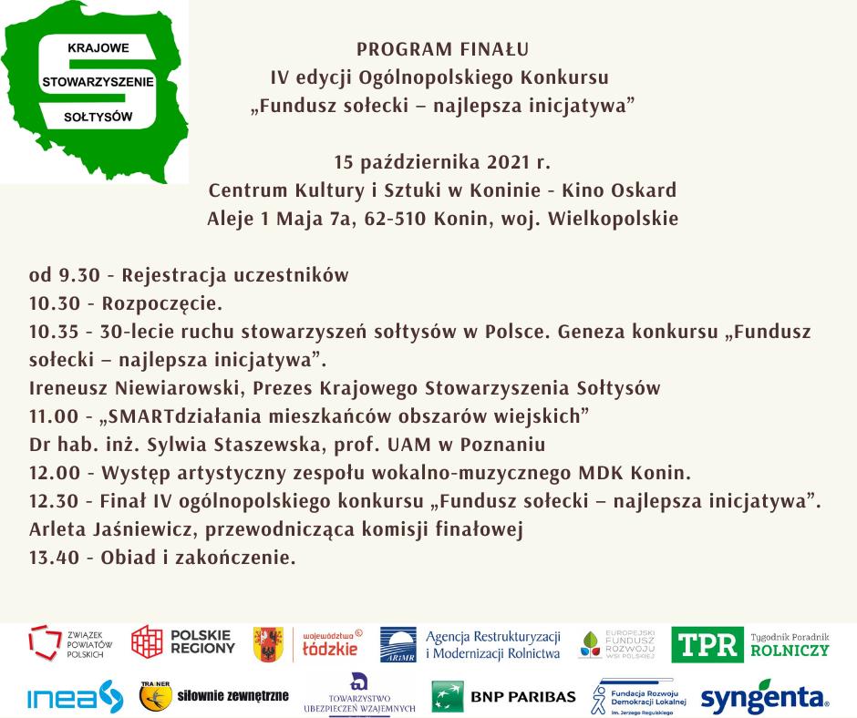 Program i sponsorzy finału